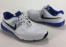 Mens Nike Lunarlon Command Flywire Golf Shoes Bright White Blue Black Size 9