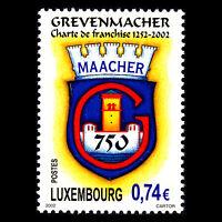 Luxembourg 2002 - Grevenmacher's Charter of Freedom - Sc 1098 MNH