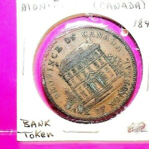 1842 Province of Canada Bank of Montreal token, one penny