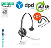 Plantronics SupraPlus HW251 Monaural Voice Tube Phone Headset  Black + FREE Lead