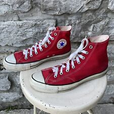 Vtg Converse Chuck Taylor All Star 70s 80s Usa Made Hi Top Red Shoes 11 Canvas
