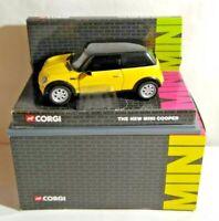 CORGI 1:36 SCALE THE NEW MINI COOPER - DAKAR YELLOW - CC86504 - BOXED