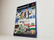 PS2 SINGSTAR TOP.IT Karaoke SONY PLAYSTATION 2 VERSIONE ITALIANA ... NUOVO