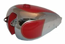 New 1950 Bsa A7 Plunger Model Chrome Plated Red Painted Fuel Petrol Gas Tank GEc