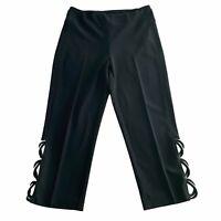 Joseph Ribkoff Womens Pants Size 8 Black Crop Capri Cropped Dress Pant