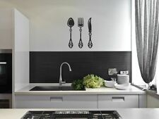 kitchen wall  stickers  Cutlery fork spoon vinyl wall art decor decal DIY