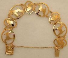 Irish Terrier Jewelry Gold Bracelet by Touchstone
