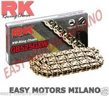 K525GXW12402 - RK MOTO CATENA TRASMISSIONE RK 525GXW ORO 124 MAGLIE CLF