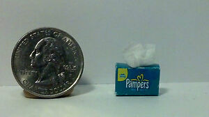 Dollhouse Miniature Baby Diaper Wipes 1:12 inch scale p  H143 Dollys Gallery