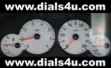 PEUGEOT 206 (1998-2010) - 210km/h (Petrol or Diesel) - WHITE DIAL KIT