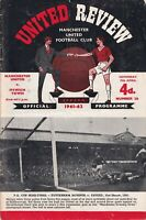 Manchester United Ipswich Town 1961 – 62 Football Programme review #26