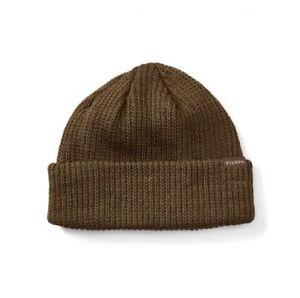 FILSON 11030235 Virgin Wool Knit Otter Green Cuff Watch Cap Beanie