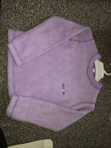 Age 5-6 Lilac Purple Girls Soft Warm Cosy Fleece Jumper Star New
