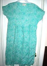 Lea of Malaysia Aqua Green and White Dress Size M