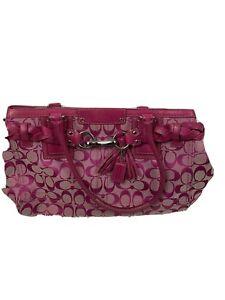 coach Hampton handbags extra large used