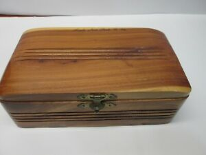 Wooden Trinket Jewelry Box Hawks Nest Park Ansted West Virginia