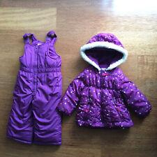 OSHKOSH B'Gosh ski snowsuit set pants + jacket litl girl purple nice size 2