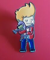 Futurama Baby Fry Loves Baby Bender Pin Enamel Brooch Lapel Badge Cosplay TV
