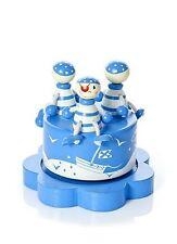 Azul Pirata Caja de música INFANTIL BABY SHOWER BAUTIZO REGALO NIÑO