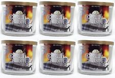 6 Bath & Body Works MARSHMALLOW FIRESIDE Large 3-Wick Scented Wax Candle 14.5 oz