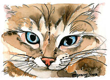 ACEO Limited Edition-mischievous boy, Art print, Gift for Cat lovers