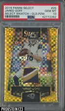 2016 Panini Select Swatch Gold Prizm #25 Jared Goff RC Rookie /10 PSA 10 POP 1