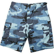 NWOT Rothco Men's Sky Blue Camouflage Cargo Military Size Small BDU Shorts