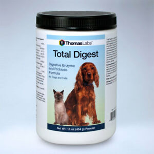 Total Digestive Enzyme And Probiotic Formula For Dogs And Cats 16oz ThomasLabs
