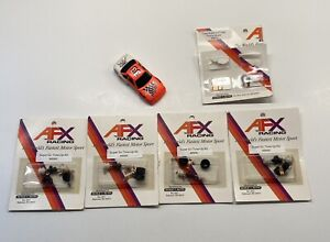 4x AFX Super G+ Plus Tune-up Kit #8995 Pickup Shoes & Team AFX #33 Body