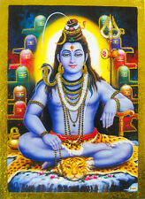 "Lord Shiva Golden Foil Hindu God Picture Religous 5"" X 7""(041)"