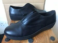 Ladies CLARKS 'Demi Grace' Somerset Leather Wedge Shoes - Size 7 D - NEW