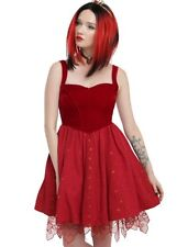 Disney Red Queen Of Hearts Alice Dress Size Large Corset Slimming Exclusive NWT