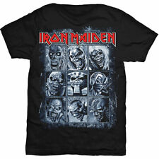 Official Iron Maiden T Shirt Nine Eddies Black Mens Classic Rock Metal Band Tee