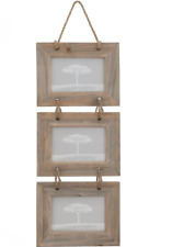 Natural Driftwood Triple Hanging Landscape Photo Picture Frame 6 X 4