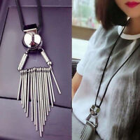 Women Fashion Alloy Long Chain Costume Jewelry Tassel Pendant Sweater Necklace