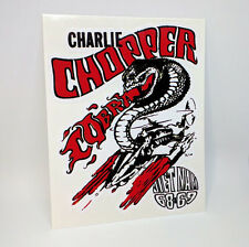 Charlie Chopper 1960's Vietnam Vintage Style Vinyl DECAL/Sticker, rat rod,racing
