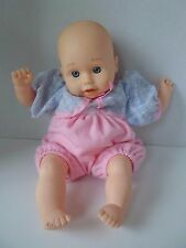 1997 EEGEE Baby Doll Vinyl face soft body Pink flower 11""