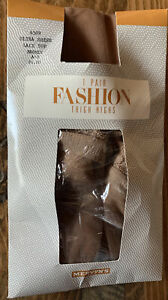 Vintage NOS Mervyn's Stockings Thigh Hi NEW Size A-B Sheer Bronze Lace Top