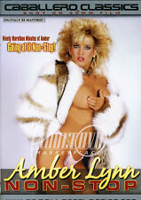 autographed AMBER LYNN AMBER NON-STOP  DVD COVER w/ PIC PROOF!