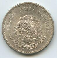 G0023 - Mexiko 5 Pesos 1948 M° KM#465 XF-UNC Patina Cuauhtemoc Silber RAR Mexico