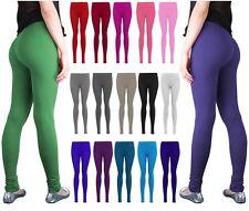 Winter warm womens strechy cotton leggings full length all sizes 4 - 24 *CTnLng