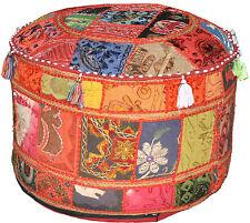 XL indian Pouf Ottomans Bean bag chair tufted ottoman bohemian poof Diwali Decor