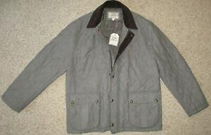 Jos. A. Bank 1905 Wool Jacket Quilted Herringbone Tweed Coat XXL Gray Insulated