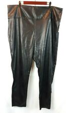 Rue 21 Women's Black Faux Leather High Waist Pants Polyester Plus Size 3X New