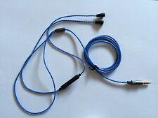 Ersatz Audio Kabel mit Fernbedienung für Sennheiser IE8 IE80 *Blau*