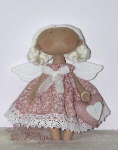 Cloth Tilda Doll Little Cute Angel Handmade Stuffed Rag Doll Birthday Gift