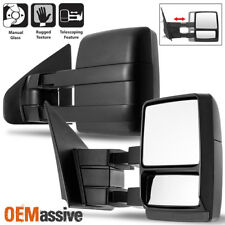 Fit 2004-2014 Ford F-150 F150 Extendable Manual Towing Trailer Mirror Left+Right
