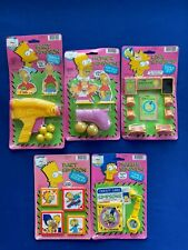 Lot of (5) 1989 The Simpsons Toy Sets Target Stamp Puzzle Credit Card By Ja-Ru