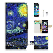 ( For iPhone 6 / 6S ) Wallet Case Cover! Van Gogh Starry Night P0066
