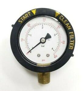 """Pentair 190058 Pool Filter Pressure Gauge FNS Clean & Clear 0-60 PSI 1/4"""" NPT"""